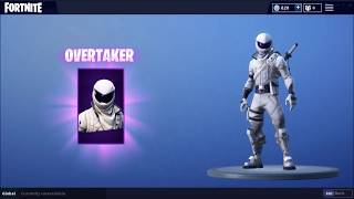 Fortnite - Buying The New OVERTAKER Skin With V-Bucks Rewards