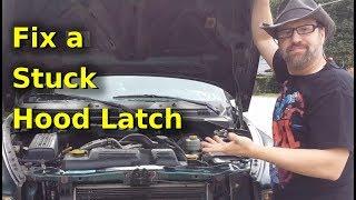 fix a stuck hood latch 2000 dodge dakota - youtube  youtube