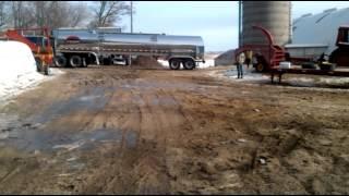 Semi pulling tanker