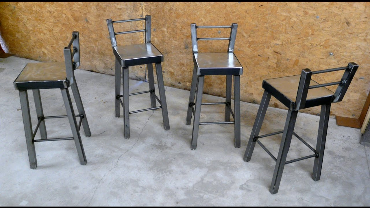 Metal Bar Stools With Back Youtube