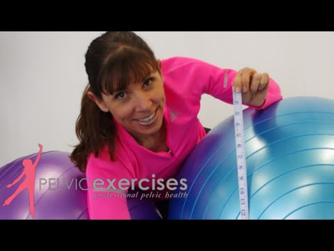 How To Fit The Right Size Exercise Ball For Your Seated