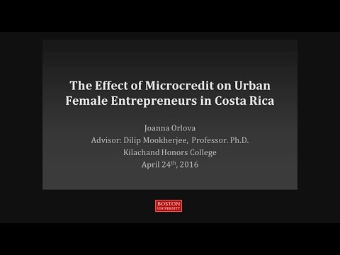 The Effect of Microcredit on Urban Female Entrepreneurs in Costa Rica