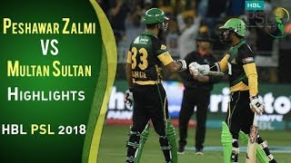 Peshawar Zalmi Vs Multan Sultans  I Full Highlights | PSL 2018 | PSL