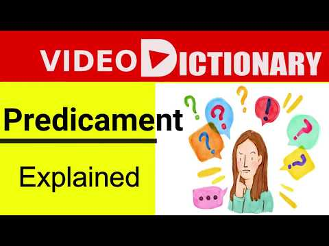 Predicament Meaning | Synonyms | Predicament pronunciation. Example in a Sentence | Video Dictionary