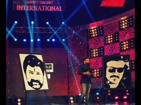 Live Paper Cutout Speed Portrait of Superstar Rajinikanth & Balakrishna