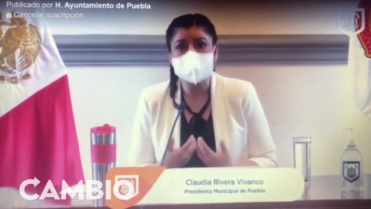 """Claudia Rivera le hizo """"la barba"""" al presidente, Andrés Manuel López Obrador"""