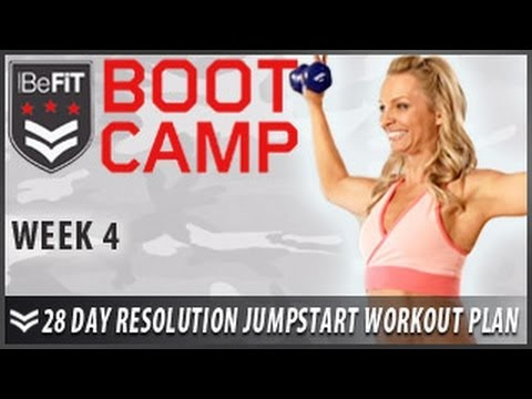 28 Day Resolution Jumpstart Workout Plan: Week 4BeFiT Bootcamp