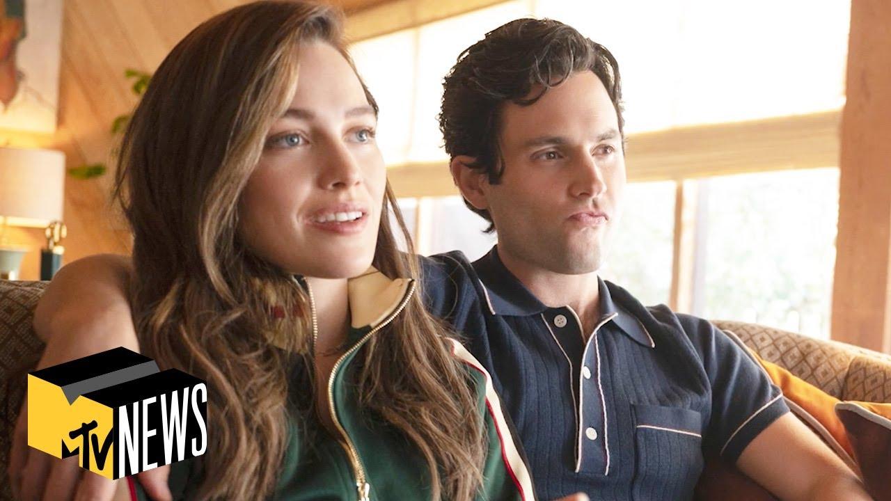 Download Penn Badgley & Victoria Pedretti on 'You' Season 3   MTV News