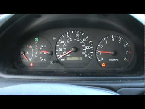2000 Toyota Solara Camry Cold Start W Broken Exhaust Dash View