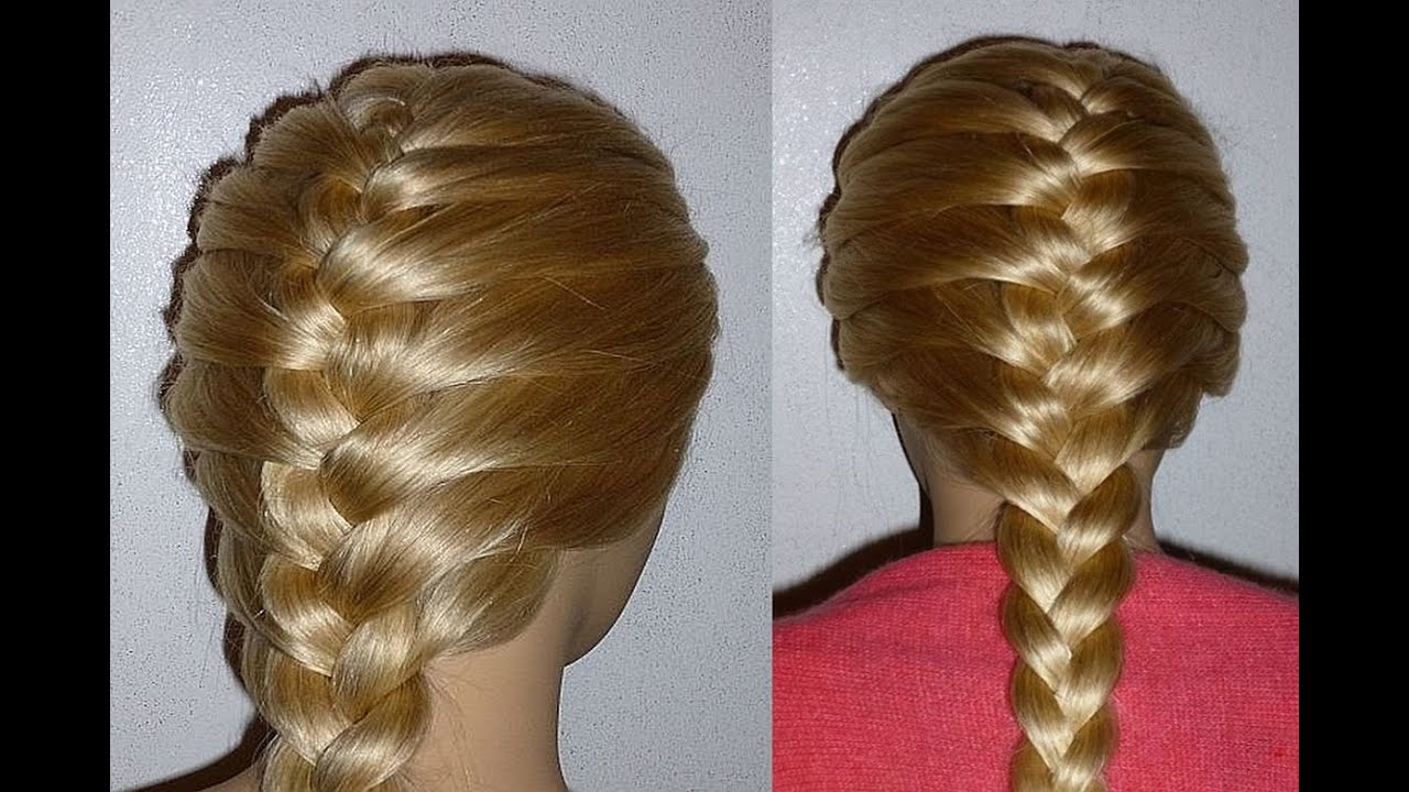 Basic French Braid Hairstyle For Beginners Everyday