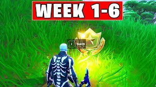 ALL Secret Battle Stars Season 10 - Fortnite Week 1 to 6 Locations (SEASON X)