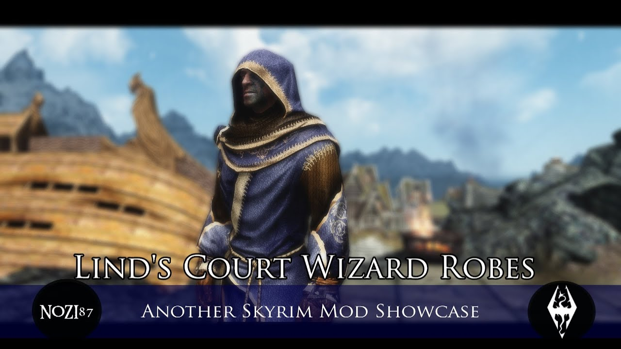 tes v skyrim mods lind s court wizard robes blue robes