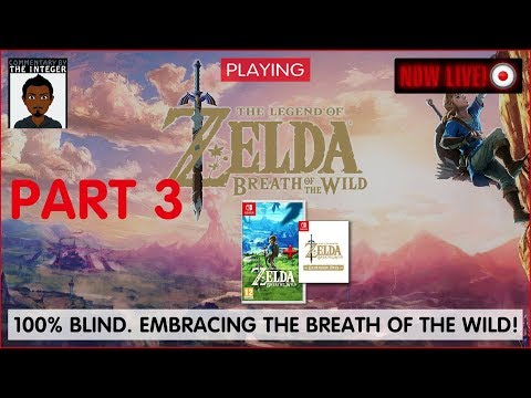 Zelda is calling in the breath of the Wild! We 'cannot' resist the call! - Ep 3 (80-90% Blind)