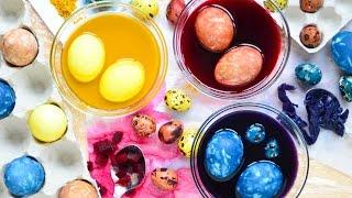 Окрашивание яиц капустой, свеклой, куркумой ☆ Только натуральные красители!