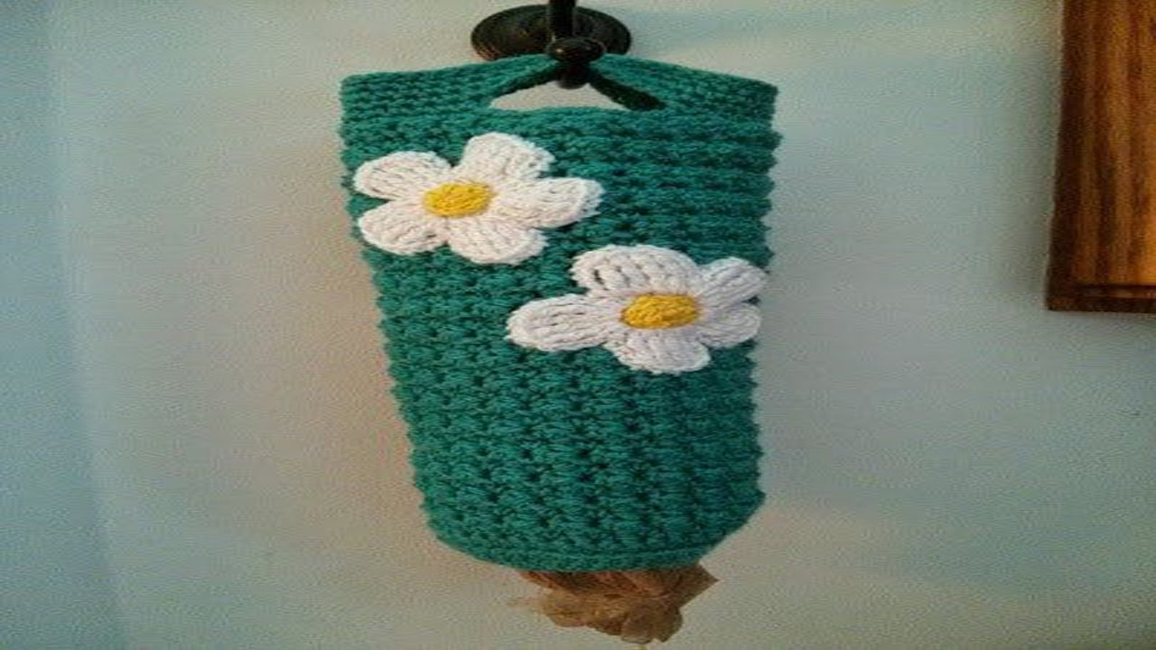Dispensador o porta Bolsas En Crochet o Ganchillo - YouTube