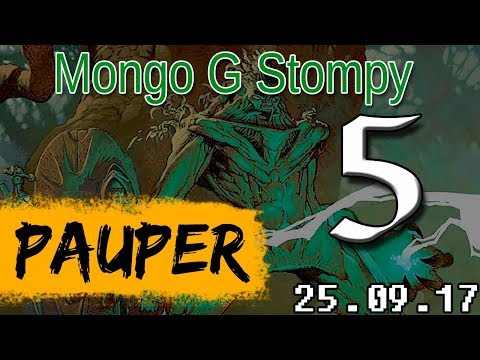 Playing MtG:O - Pauper - Mono G Stompy vs Affinity [250917/5-5]