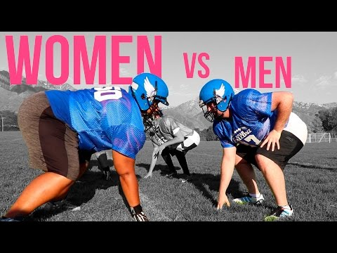 Thumbnail: Men vs Women - Men Try Women's Tackle Football
