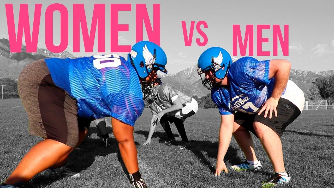 Men Vs Women Men Try Womens Tackle Football