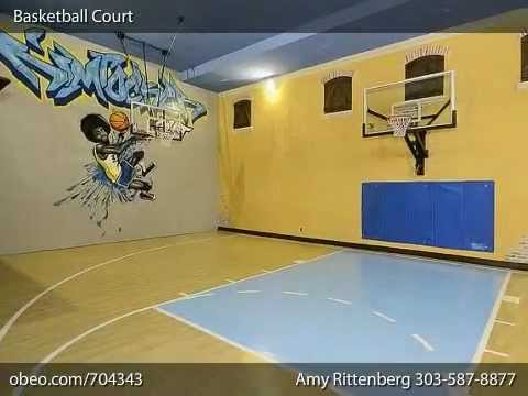 Mansion with indoor basketball court  Indoor Home Basketball Court by Licht - YouTube