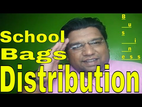 School bags distribution business