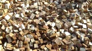 Wood chunk dryer