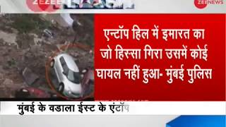 Mumbai rains: Several vehicles trapped after ground collapses in Wadala East