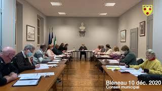 Conseil  municipal du 10 12 2020
