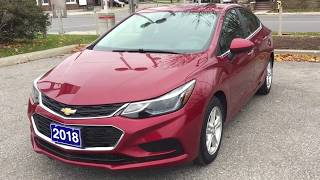 Pre Owned 2018 Chevrolet Cruze Sunroof Push Start Ignition  LT Red Oshawa ON Stock #B12337 thumbnail