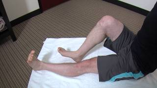 calf stretching strengthening exercise demonstration