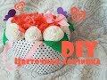 Поделки - DIY / Цветочная корзинка / Декор комнаты / Цветы из бумаги