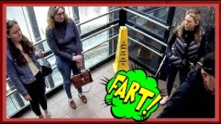 Funny Wet Fart Prank In A Elevator | The Sharter Pro