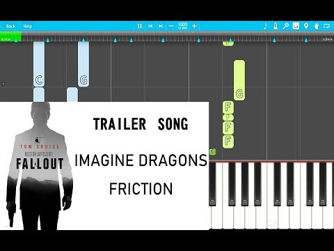 Mission Impossible Trailer Song - Imagine Dragons - Friction PIANO Tutorial EASY (Piano Cover)