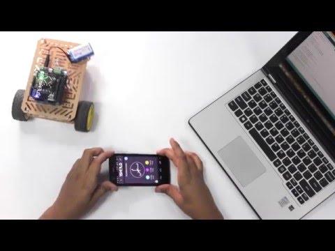 Turn your smartphone into accelerometer sensor shield to control Arduino - 1Sheeld Tutorial