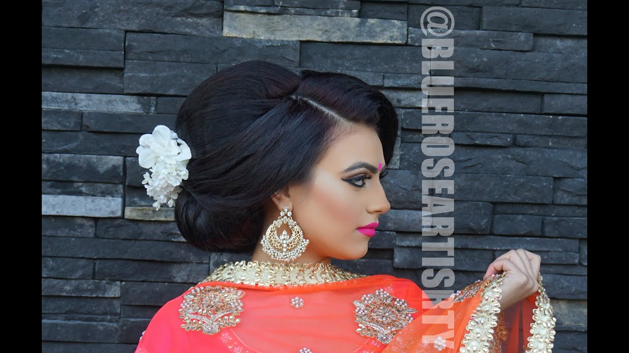 Indian Bridal South Asian Hair Start To Finish blueroseartistry