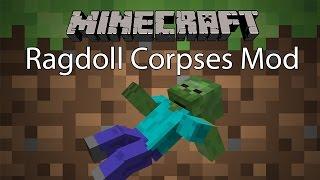 Minecraft Mod รีวิว - Mod ตัวแร้กดอล | Ragdoll Corpses Mod [1.8]