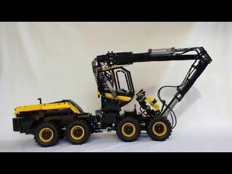 Lego Technic Ponsse Scorpion King tree harvester - YouTube