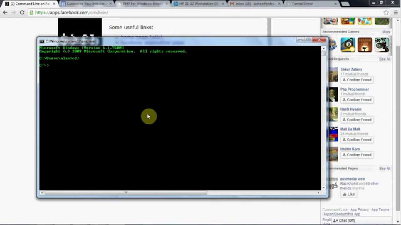 facebook Command Prompt, fbcmd installing for Windows - YouTube