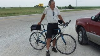 John Schmid Spotted Halfway on Cross Country Bike Tour