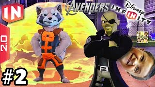 The Avengers Play Set - Part 2: ROCKET IS HERE! Disney Infinity 2.0 (Dad & Son Commentary)