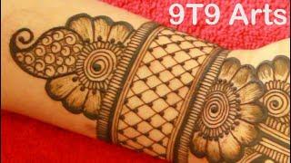 Stylish Arabic Henna Mehendi | KARVA CHAUTH Mehndi Designs @9T9 Arts | Simple Mehandi | Floral Check