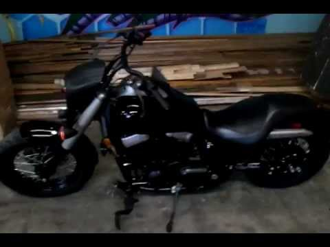 Honda Shadow Phantom with headlight cowl - YouTube