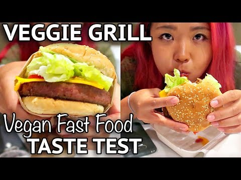 VEGGIE GRILL TASTE TEST (BEYOND BURGER) - Vegan Around The World #9 (Anaheim)
