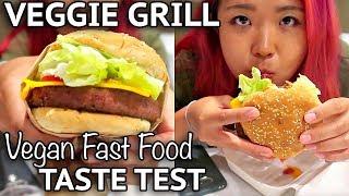 VEGGIE GRILL TASTE TEST (BEYOND BURGER) - Vegan Around The World #9 (Anaheim)
