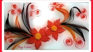 How to make DIY paper quilling DESIGNS - Art / Flower Design / Ideas Tutorial!