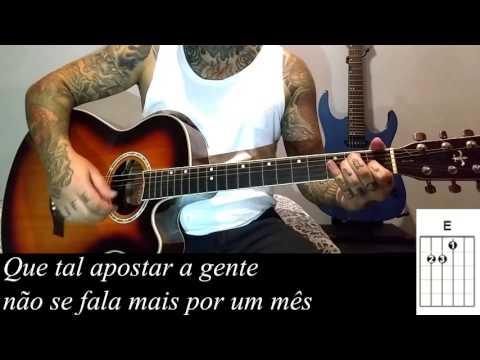 Luan Santana e Sandy - Mesmo sem estar como tocar no violão (Simplificada)