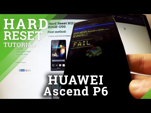 Hard Reset Huawei Ascend P6 - bypass screen lock protection
