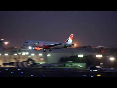 (Full HD) Viva Aerobus A320 great light