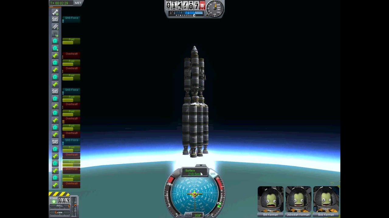 Kerbal Space Program - Huge Rocket Attaining Orbit - YouTube