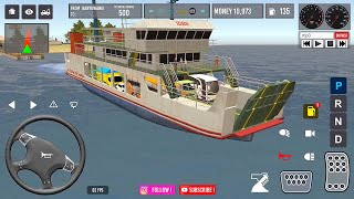 IDBS Indonesia Truck Simulator | Crossing the Sea from Ketapang to Gilimanuk screenshot 2