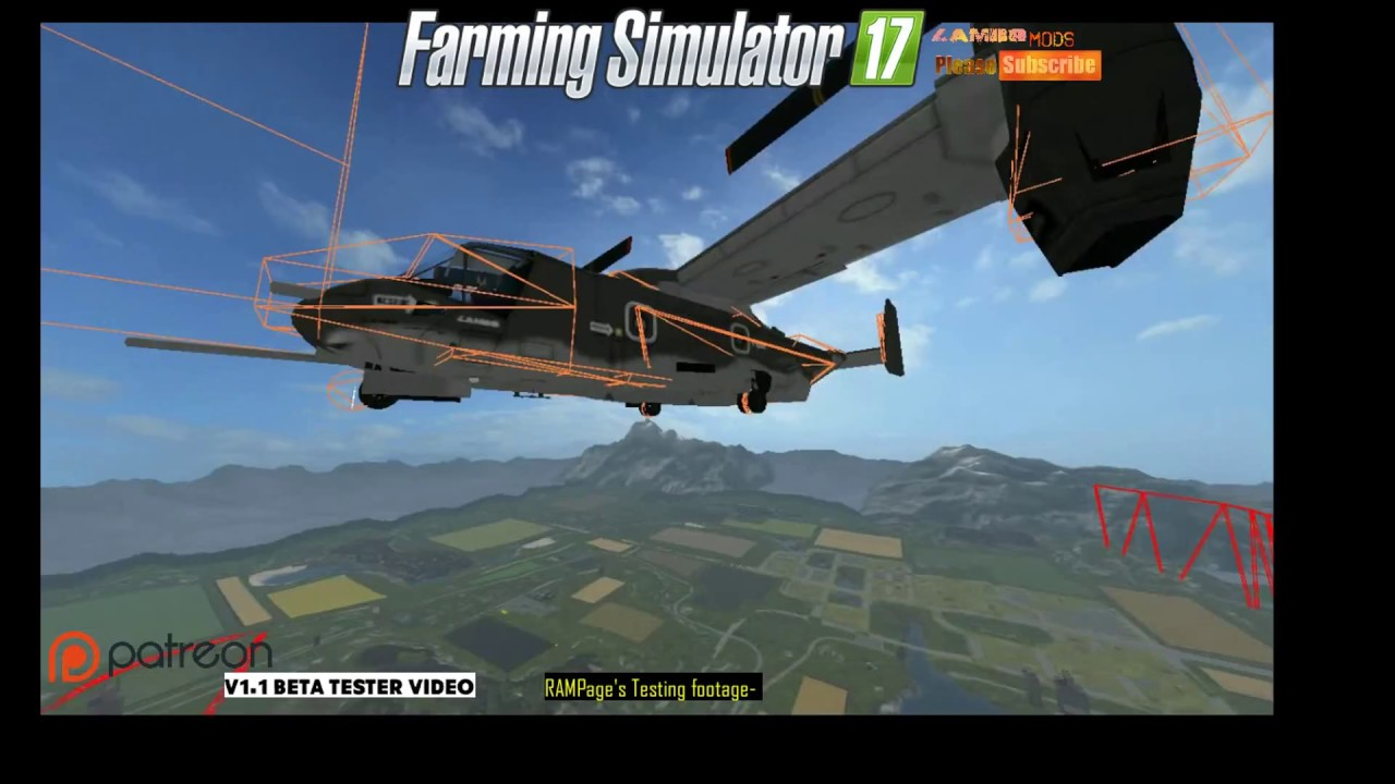 FS 17 | RAMPage's V-22 Osprey helicopter beta test footage for LAMBO MODs